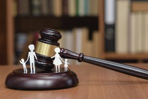 Family and a gavel - Concept of a family court in Sydney