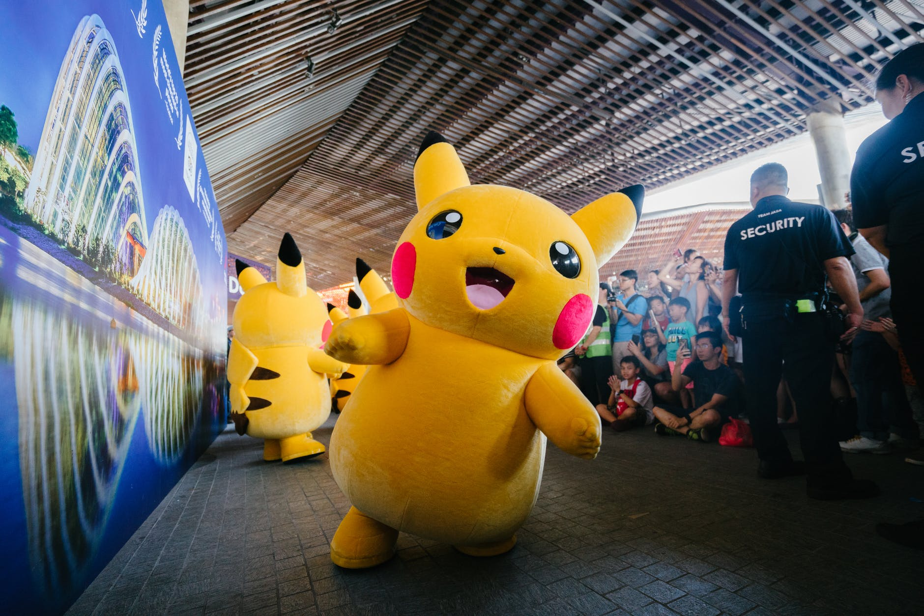 mascot costume of Pikachu
