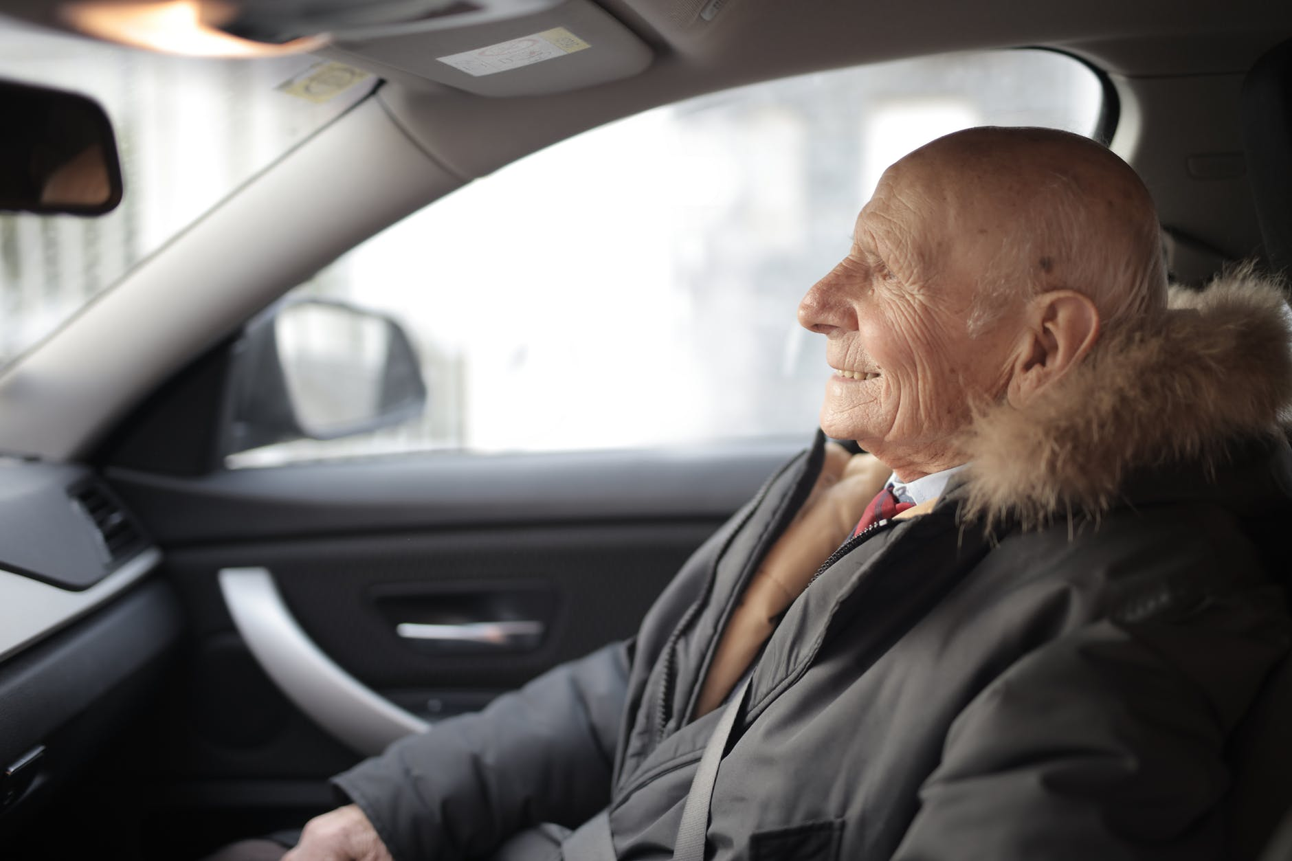 old man driving