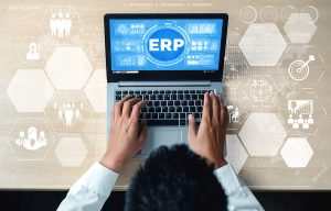 ERP software in Australia being used by a worker
