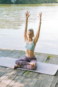 Woman doing yoga for better posture